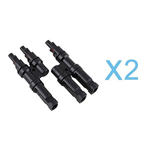 2 Sets of RENOGY Branch Connectors Solar MC4 Connectors Y connector in Pair MMF+FFM, Pack of 2