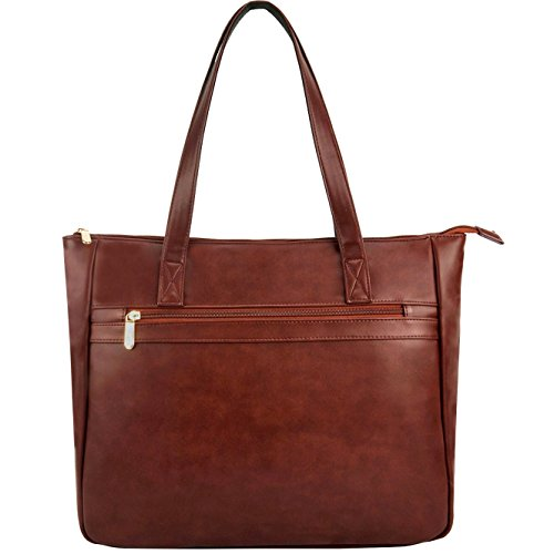 EDODAY Laptop Tote Bag Up to 14 Inch, Women Shoulder Laptop Bags Casual Briefcase Tote Handbags (2.Coffee)