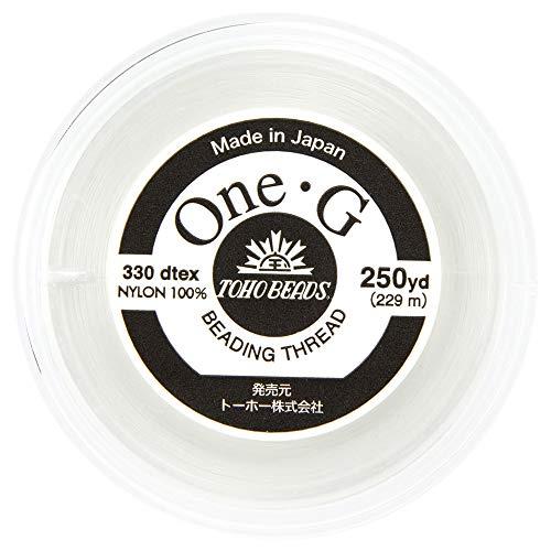 - Toho One-G Beading Thread, White - 250 Yard Spool