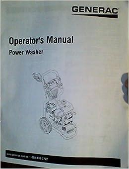 Generac Power Washer Operator's Manual (English, Spanish