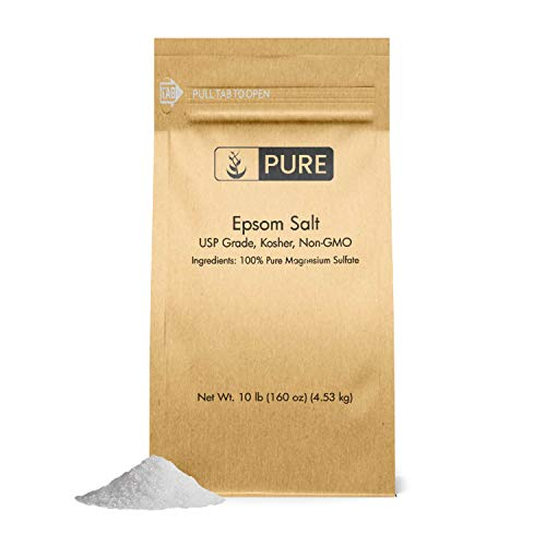 - Epsom Salt (10 lb.) by Pure Organic Ingredients, Magnesium Sulfate Soaking Solution, All-Natural, Highest Quality & Purity, USP Grade