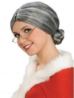 Rubie's Characters Old Lady / Mrs. Santa Wig, One -