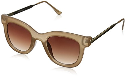 A.J. Morgan Women's Lily Square Sunglasses, Champagne, 49 (Beige Lily Shade)