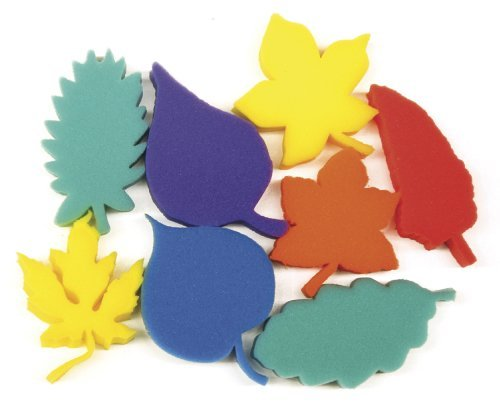 Creativity Street Dip and Print Leaf Sponge Set, 3 in, Set of 8