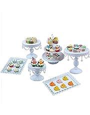 6 stycken tårtställ bröllop fest muffinsställ glaskristall bröllopstårta tårtställ displayhållare, snabb installation, olika applikationer för olika aktiviteter