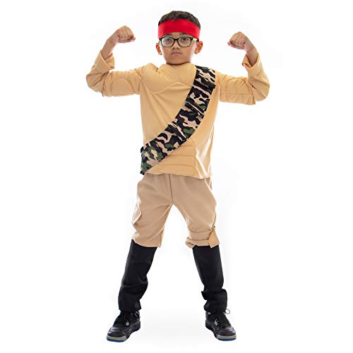 Boo! Inc. Jungle Fighter Muscle Suit Halloween Costume (10-12)