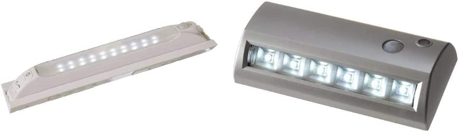 6.8 Inch Silver Light It By Fulcrum Battery Operated 6-LED Wireless Motion Sensor Weatherproof Security Path Light