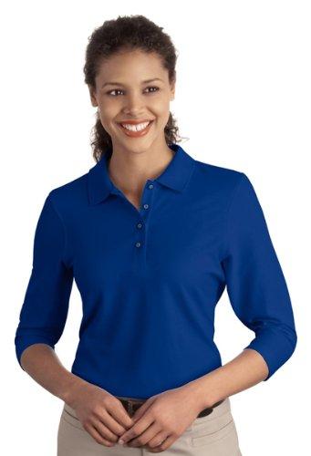 Port Authority Womens Silk Touch 3/4-Sleeve Sport Shirt. L562 - Black L562 3XL