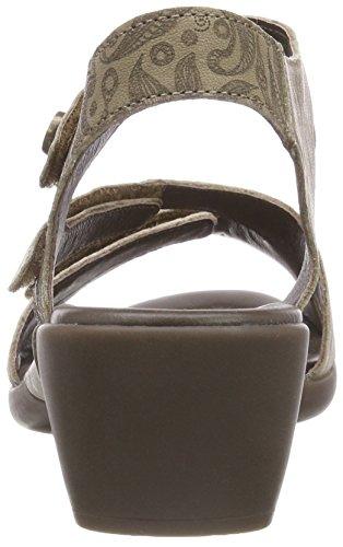 Think Niah_282548, Sandali con Cinturino Alla Caviglia Donna Beige (Macchiato 24)