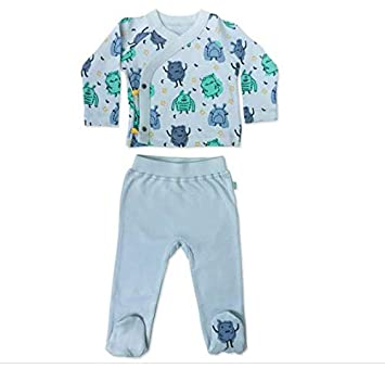 Emma Organic Cotton Footed Pants for Baby Boy//Girl Finn