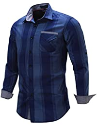 Neleus Men's Slim Fit Long Sleeve Button Down Shirts