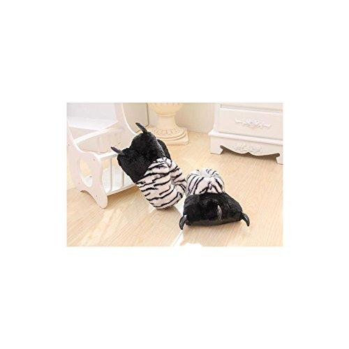 OCHENTA unisex Zapatillas de animación de dibujos animados de Cosplay Blanco Tiger