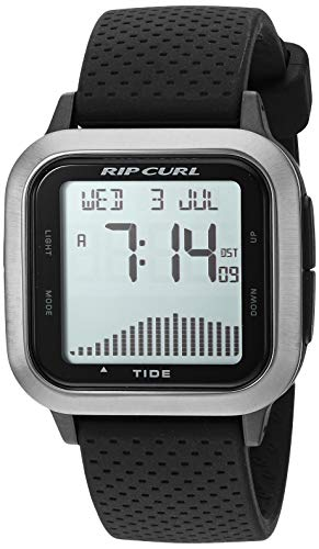 Rip Curl Men's Quartz Sport Watch with Silicone Strap, Black, 22 (Model: A1137GUN1SZ)