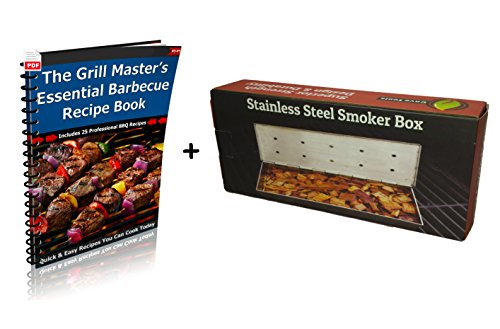 smoker box for bbq grill wood chips 25 thicker stainless import it all. Black Bedroom Furniture Sets. Home Design Ideas