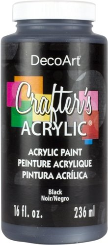 DecoArt DCA47-65 Crafter's Acrylic 16 Oz Paint, Black Crafter's Acrylic Paint