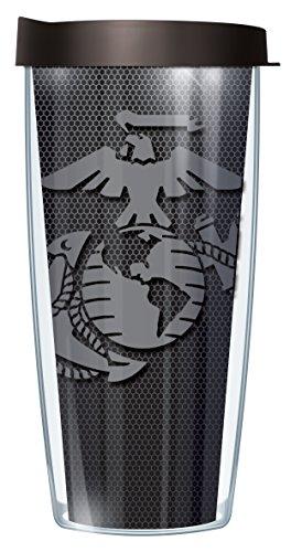 USMC US Marine Corps Symbol 22 Oz Traveler Tumbler Mug with Lid