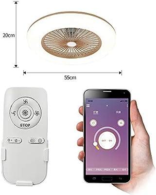 Lixada Ventilador de Techo con Lámpara Moderna 180V-265V con ...