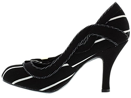 Womens Miranda Shoes Shoo White Black Heels Ruby Court gRxIqFUUw