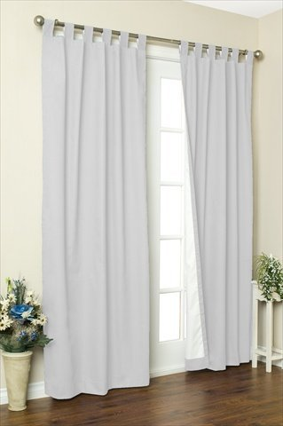 Commonwealth Home Fashions 70292-153-001-54 Thermalogic Insulated Solid Color Tab Top Curtain Pairs 63 in., White