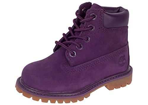 """Timberland Kids Girl's 6"""" Classic Boot  Purple Nubuck Boot 5"""