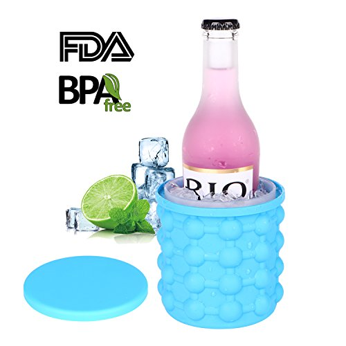 CPPSLEE New Ice Cube Maker Genie silicone, Ice bucket The Revolutionary Space Saving Ice Cube Maker