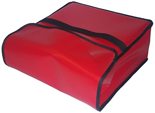 TCB Insulated Bags PK-313-Red Insulated Pizza Delivery Bag, Holds 2 Each 10'' Pizzas, 13'' x 13'' x 7'', Red by TCB Insulated Bags