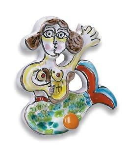 Hand Painted De Simone Mermaid Hook - Handmade in Sicily
