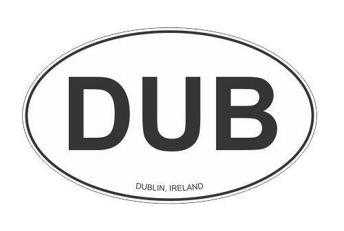 Dublin Ireland oval Vinyl Decal Sticker