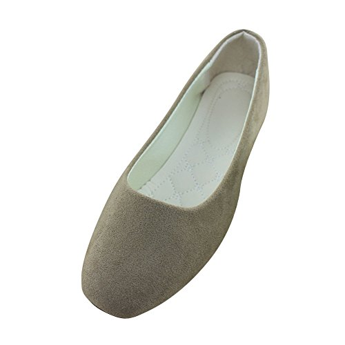 Slip Solid Shoes Comfy Flats Toe Pointed Loafers Girls Summer Breathable Khaki Plain Ballerina Ladies Low Cut MISSMAO On HqPOH