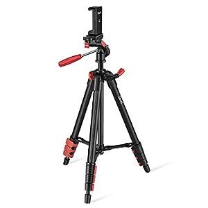 Travel Tripod, Zecti 16 to 47 Inch Lightweight Tripod for ILDC, Smartphone, Telescope Loading 2kg