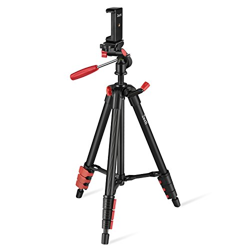 Camera Tripod,Zecti 16 to 47 Inch Lightweight Travel Tripod for iPhone8 iPhone 8 Plus iPhone X ILDC,Smartphone,Telescope Loading 2kg