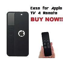 NEW Silicone Protective Case Cover Slip Pouch for Apple TV Siri Remote 4th Generation Black