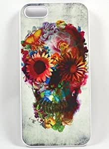 Unique Floral Sugar Skull for Iphone 5 Case (same as picture) by runtopwell