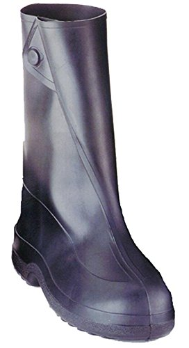 Tingley Rubber 10-Inch 1400 Rubber Overshoe with Button Boot,Black,X-Large (Rubber Mens Overshoe)