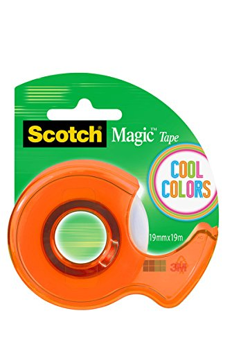 Scotch - Dispensador, colores Cool y 1 rollo cinta Scotch Magic, colores azul,