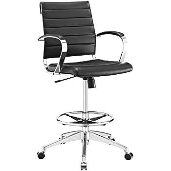 Amazoncom Modway Jive Drafting Chair In Black Reception Desk