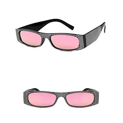 Delete Hunpta para A con Remache Perlas de rectangulares de Gafas Sol Verano Bqw1xfv4B