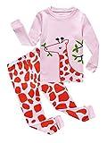 KikizYe Pajamas for Little Big Girls Long Sleeve Pajama Sets 100% Cotton Pjs
