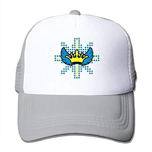 ZOZGETU Crown Wings On Dot Star Big Foam Trucker Baseball Cap Mesh Back Adjustable Cap Baseball Cap ()