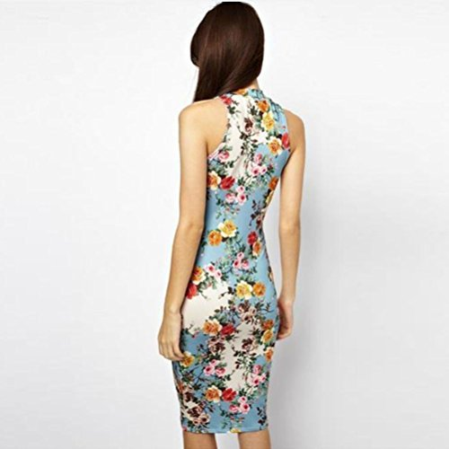 Joker Costume Walmart (True Meaning Pretty Womens Dress, Floral Printed Cheongsam Design Casual Mini Pencil Dress BlueMedium)
