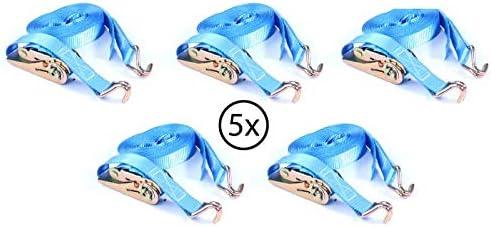 Spanngurt Zurrgurt mit Haken 6 m bis 800 kg zweiteilig 2-tlg Ratschengurt blau