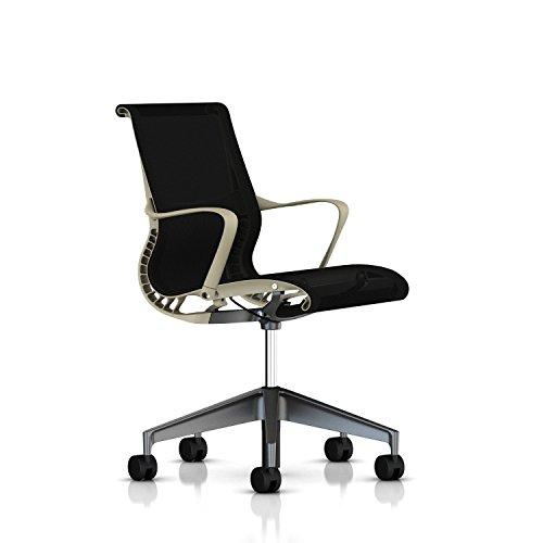 Herman Miller Setu Chair: Ribbon Arms - Translucent Casters