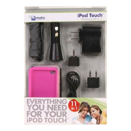 Ematic 11 in 1 Accessory Kit for iPod Touch (Ematic Mp3 Player Case)