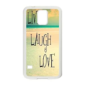 Custom New Cover Case for SamSung Galaxy S5 I9600, live laugh love Phone Case - HL-515915