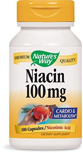 Nature's Way Niacin, 100 Capsules (Pack of 4)
