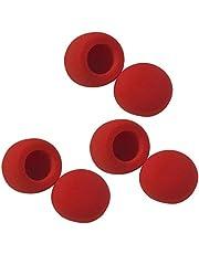 10x Funda de Esponja de Micrófono Lavable Resistente Filtro de Viento para Instrumentos Musicales - Rojo, 6 piezas