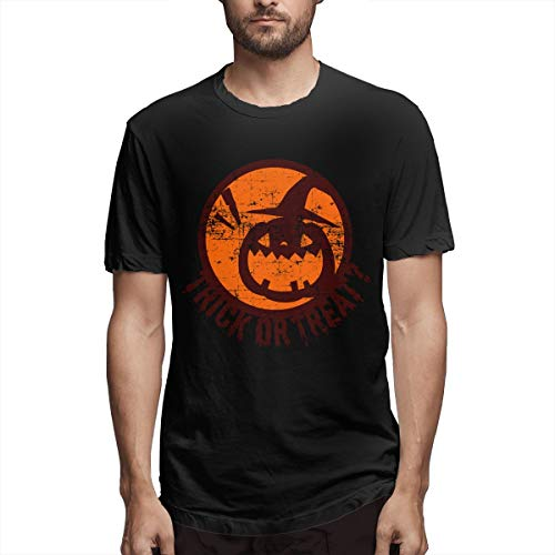 Halloween Trick Or Treat Pumpkin Mens Graphic T-Shirts
