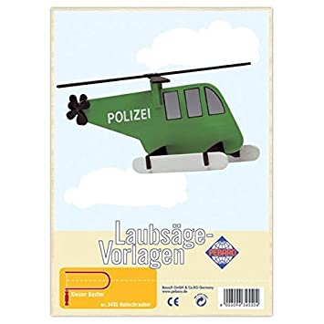 Matches21 Hubschrauber Holz Laubsägevorlage Din A4 Holzvorlage Für