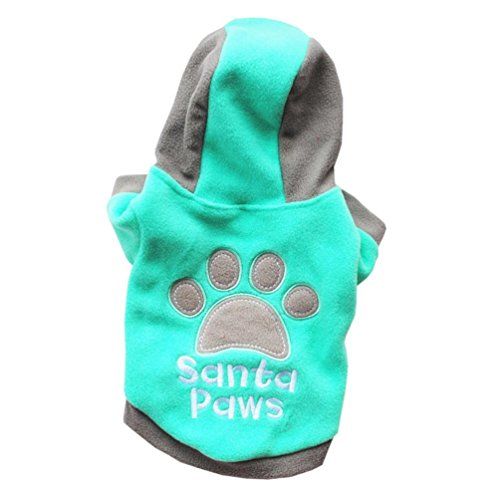 Lab Coat Costume For Dog (Dog Outfit, Howstar Puppy Pet Winter Coat jacket Dog Warm Clothes Clothing for Small Pet (Green, L))