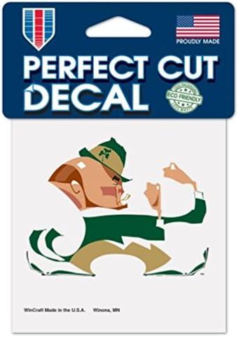 WinCraft NCAA University Notre Dame Fighting Irish White Logo 4 x 4 inch Outdoor Decal